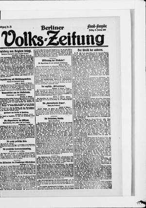 Berliner Volkszeitung vom 14.02.1919