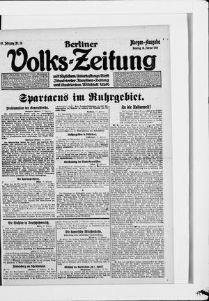 Berliner Volkszeitung vom 18.02.1919