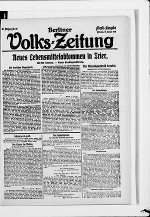Berliner Volkszeitung vom 19.02.1919