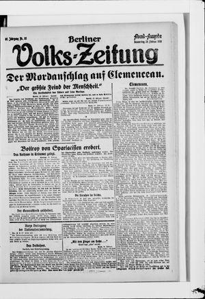 Berliner Volkszeitung vom 20.02.1919