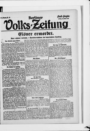 Berliner Volkszeitung vom 21.02.1919