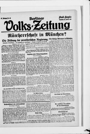 Berliner Volkszeitung vom 22.02.1919
