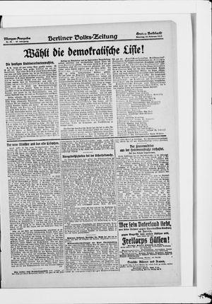 Berliner Volkszeitung vom 23.02.1919