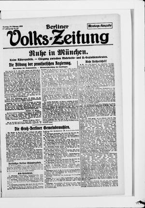 Berliner Volkszeitung vom 24.02.1919