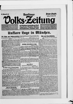 Berliner Volkszeitung vom 25.02.1919