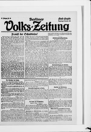 Berliner Volkszeitung vom 27.02.1919