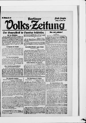 Berliner Volkszeitung vom 28.02.1919