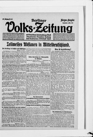 Berliner Volkszeitung vom 01.03.1919