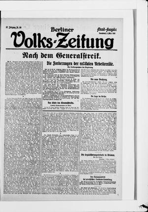 Berliner Volkszeitung on Mar 8, 1919