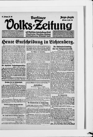 Berliner Volkszeitung vom 12.03.1919