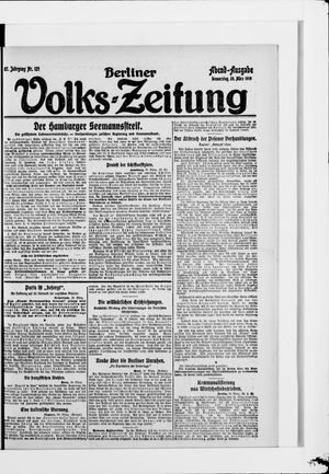 Berliner Volkszeitung vom 20.03.1919