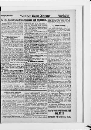 Berliner Volkszeitung vom 21.03.1919
