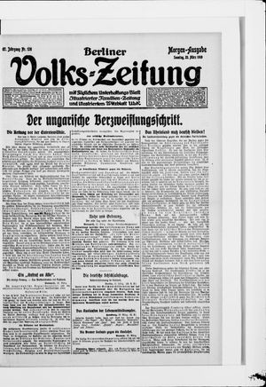 Berliner Volkszeitung vom 23.03.1919