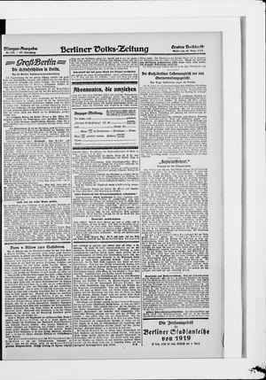 Berliner Volkszeitung vom 26.03.1919