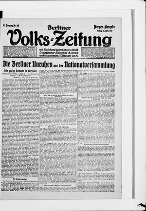 Berliner Volkszeitung vom 28.03.1919