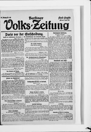Berliner Volkszeitung on Apr 2, 1919