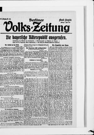Berliner Volkszeitung vom 07.04.1919