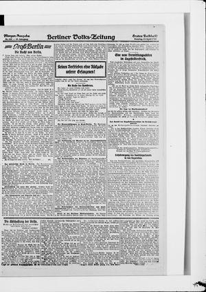 Berliner Volkszeitung vom 13.04.1919