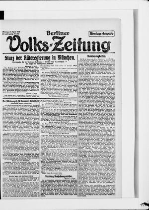 Berliner Volkszeitung vom 14.04.1919