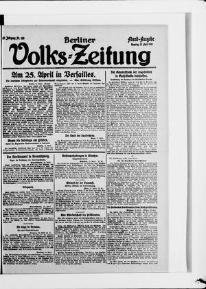 Berliner Volkszeitung vom 15.04.1919