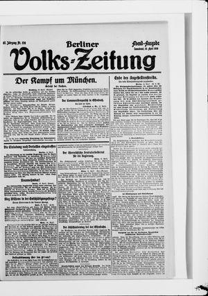 Berliner Volkszeitung on Apr 19, 1919
