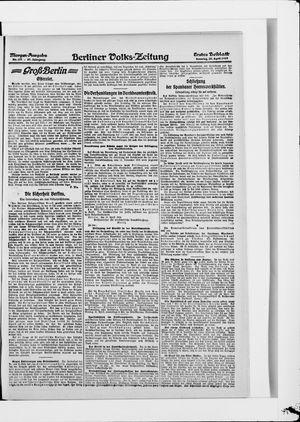 Berliner Volkszeitung vom 20.04.1919