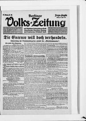 Berliner Volkszeitung vom 22.04.1919