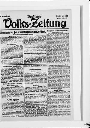Berliner Volkszeitung vom 23.04.1919