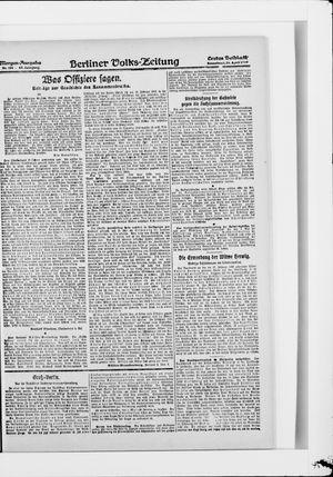 Berliner Volkszeitung vom 26.04.1919