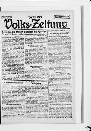 Berliner Volkszeitung vom 28.04.1919