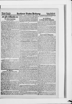 Berliner Volkszeitung vom 29.04.1919