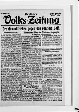 Berliner Volkszeitung vom 08.05.1919