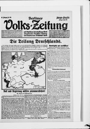 Berliner Volkszeitung vom 09.05.1919