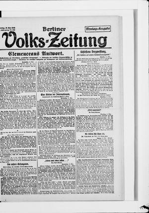 Berliner Volkszeitung vom 12.05.1919