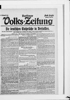 Berliner Volkszeitung vom 14.05.1919