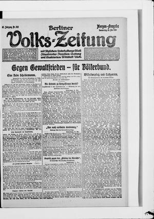 Berliner Volkszeitung vom 22.05.1919