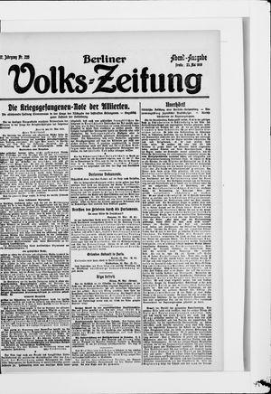 Berliner Volkszeitung vom 23.05.1919