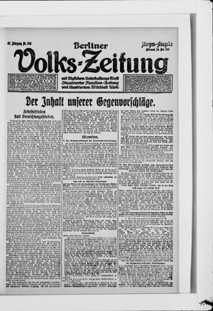 Berliner Volkszeitung vom 28.05.1919