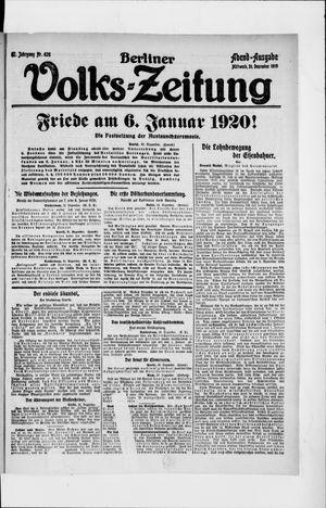 Berliner Volkszeitung vom 31.12.1919