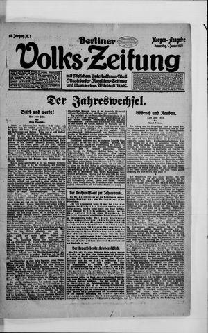 Berliner Volkszeitung vom 01.01.1920
