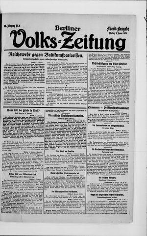 Berliner Volkszeitung vom 05.01.1920