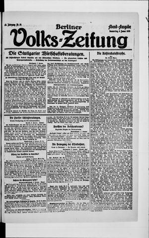 Berliner Volkszeitung vom 08.01.1920