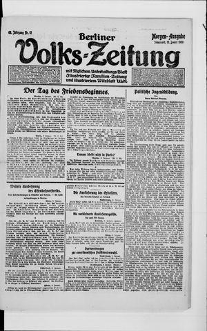 Berliner Volkszeitung on Jan 10, 1920