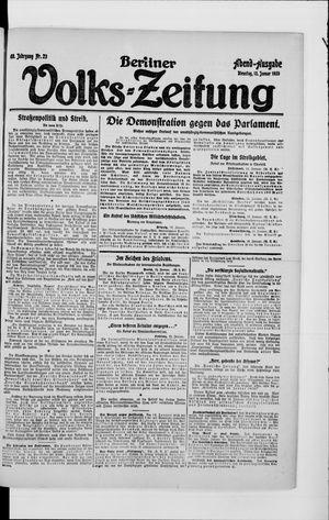 Berliner Volkszeitung vom 13.01.1920
