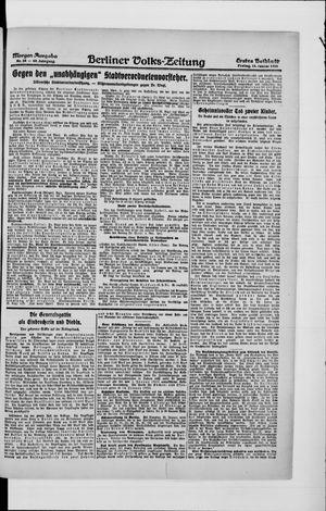 Berliner Volkszeitung vom 16.01.1920