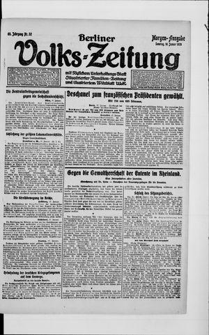 Berliner Volkszeitung vom 18.01.1920