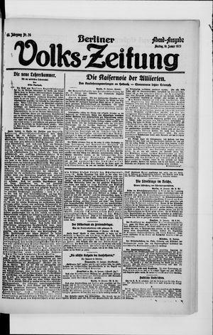 Berliner Volkszeitung vom 19.01.1920