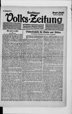 Berliner Volkszeitung vom 21.01.1920
