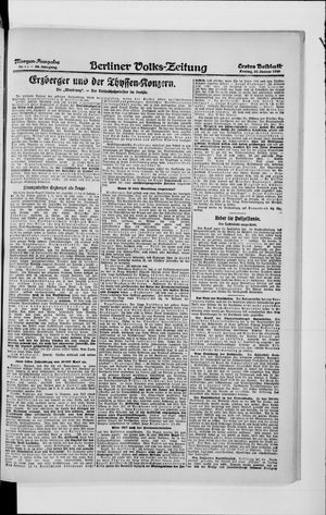Berliner Volkszeitung vom 23.01.1920