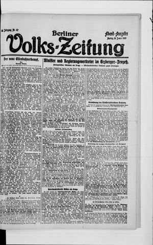Berliner Volkszeitung vom 26.01.1920
